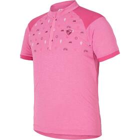 Ziener Cadlin Koszulka rowerowa z zamkiem błyskawicznym Dzieci, pink azalea